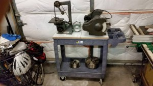 06-06-15 rockwell grinder and bench grinder on utility cart