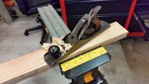 06 18 15 stanley 5 plane with corrected bevel making shavings