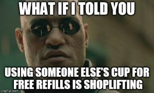 morpheus cup shoplifting