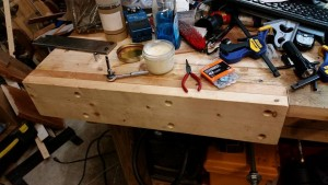 07 12 15 moxon vise fixed jaw attached to workbench