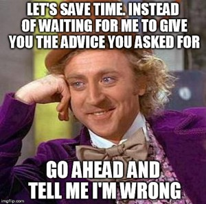 wonka advice wrong