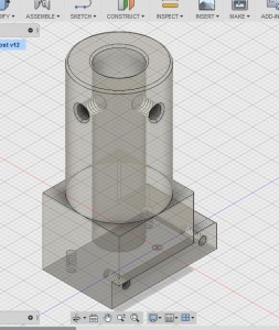 09 22 15 Fusion 360 Lathe Tool Post with extraneous crap removed