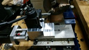 07 03 16 CNC mini lathe with new cross slide mount